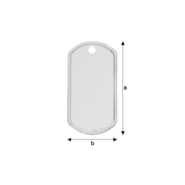 Tablita army, 50*27 mm argint 925 grosime 0,4