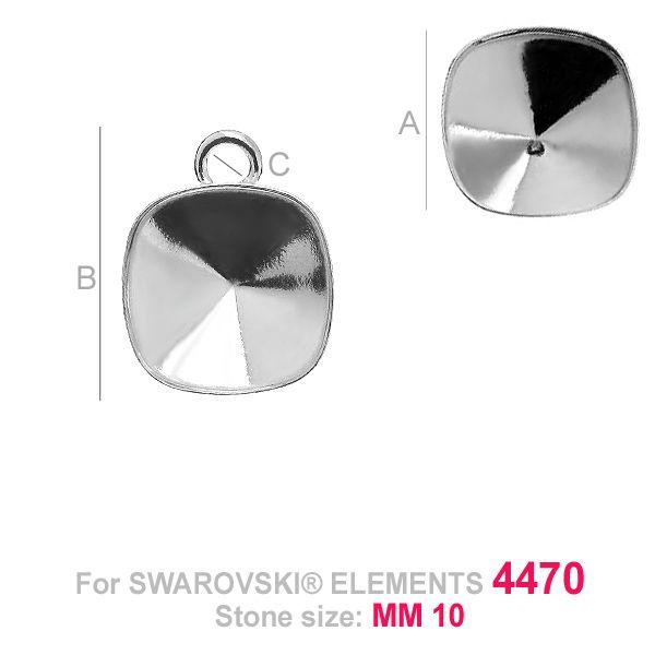 accesoriu pandant,argint 925 , pentru swarovski 4470