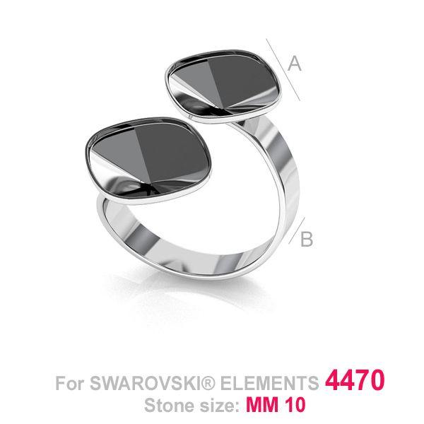Baza inel pentru swarovski4470 10 mm