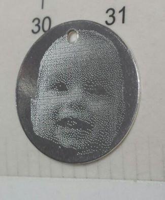 Banut argint 925  21 mm gravat foto