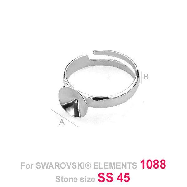 Baza inel, argint 925 ptr swarovski 1088 10 mm