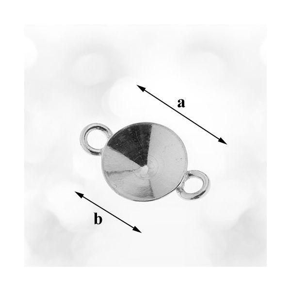 link, argint 925 , pentru swaovski 1122 - 11 mm