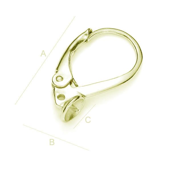 tortita ,argint 925 aurita A17,20 mm B10,00 mm C4,45 mm,