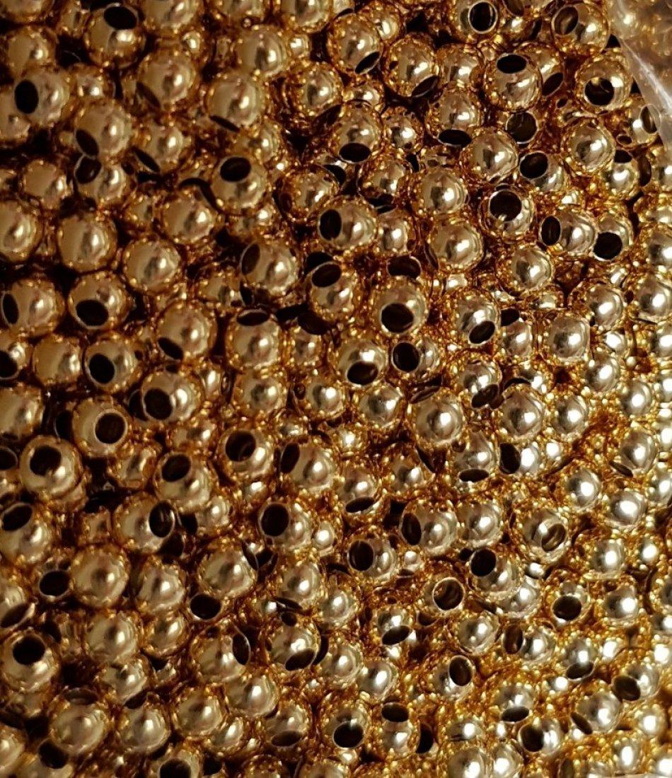 Bila 3mm int 1,2 mm argint 925 - placat cu aur