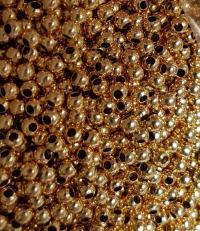 Bila 2,5 mm int 1,2 mm argint 925 - placat cu aur