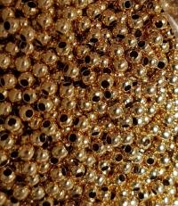 Bila 3mm int 1,2 mm argint 925 - placat cu aur 2 microni