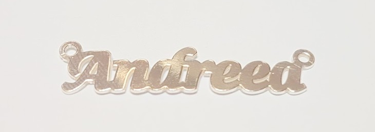Placuta nume, argint 925 Andreea