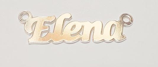 placuta nume, argint 925 Elena