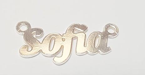 Placuta nume Sofia ,argint 925