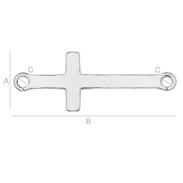 Link cruce, argint   925  21,5 mm