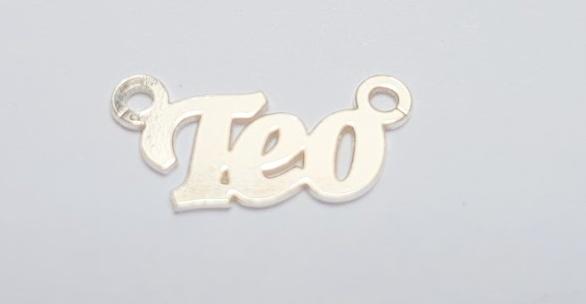 Teo, argint 925 22*7 mm