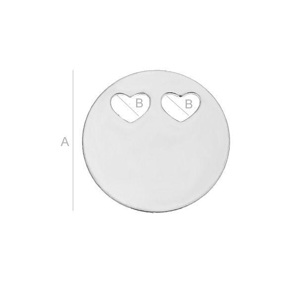 banut, argint 925  A14,00 mm B3,10 mm grosime 0,5