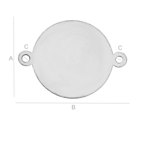 LI nk , 14 x 19 mm argint 925