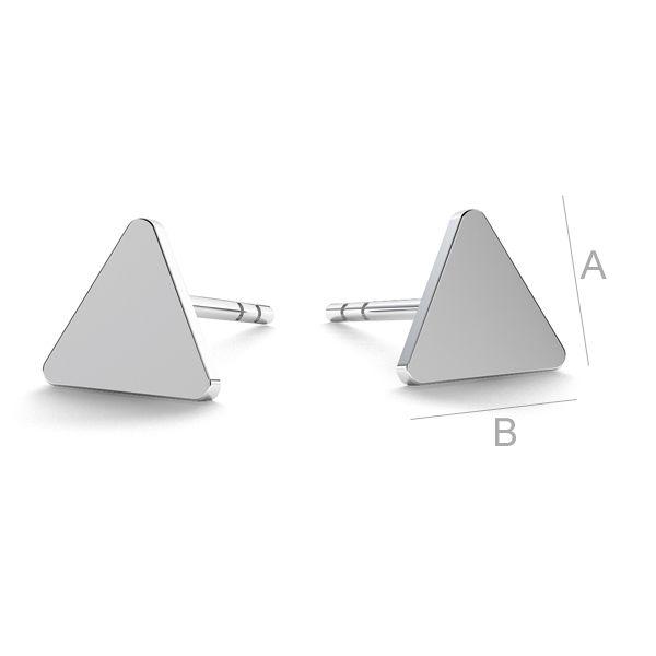 tortita ,argint 925 triunghi