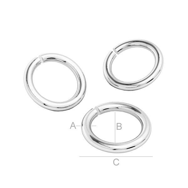 zale, argint 925 A0,80 mm B4,10 mm C5,70 mm