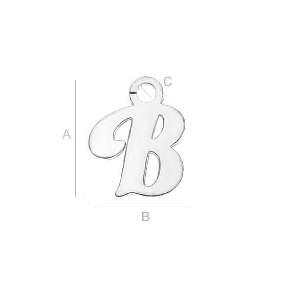 Litera B argint 925