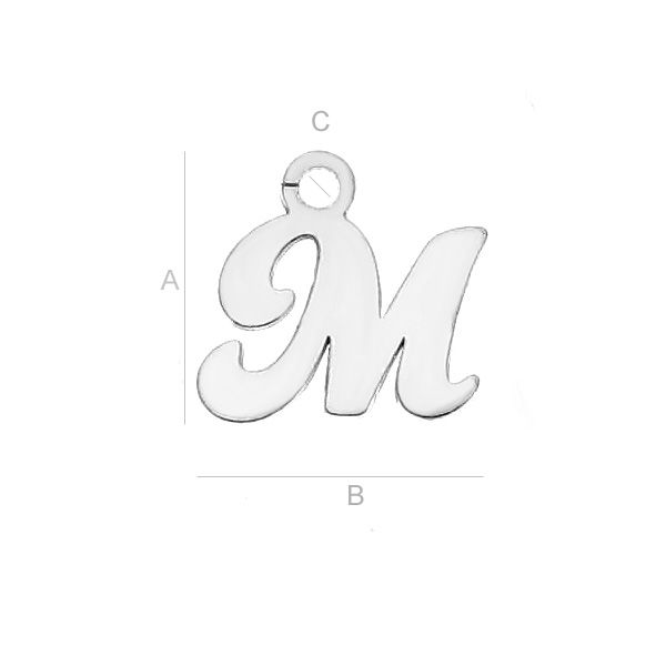 litera  M argint 925