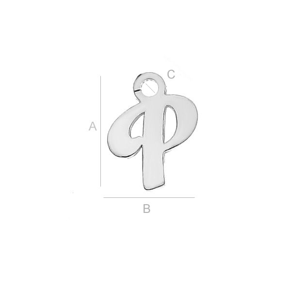 litera p argint 925