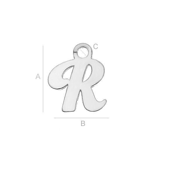 litera r argint 925