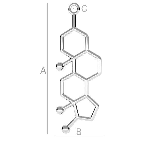 Molecula, testosteron argint 925