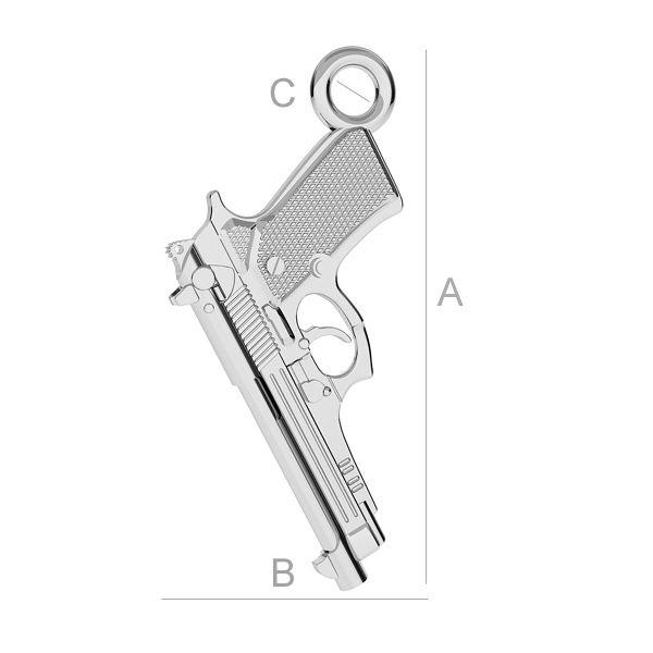 pistol,argint 925