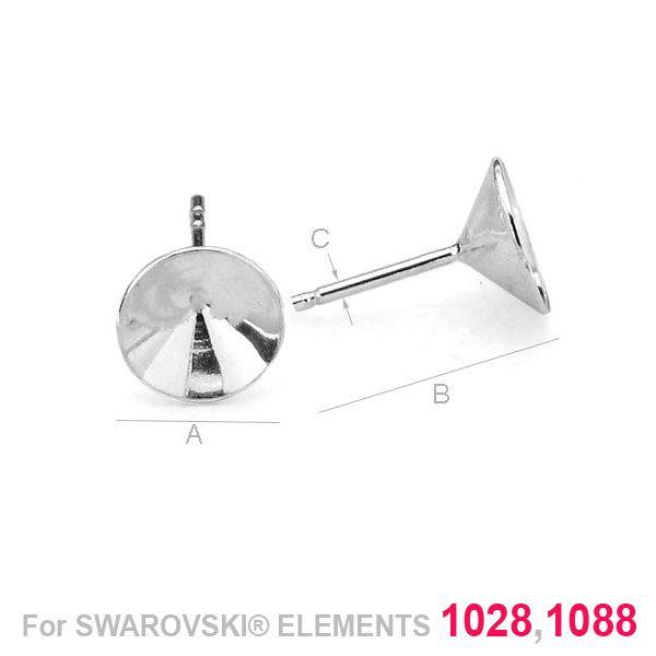 tortita ,argint 925 A8,30 mm B14,50 mm C0,80 mm,