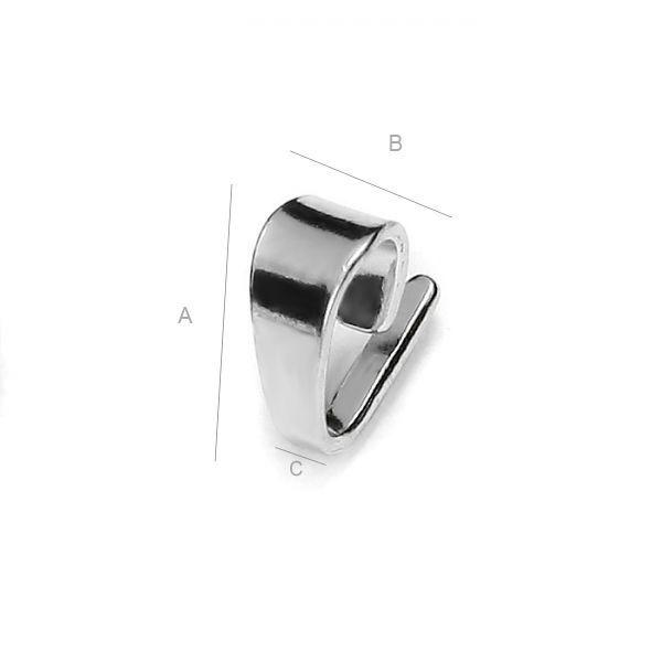 agatatoare, pandant argint 925 A7,65 mm B3,80 mm C1,40 mm