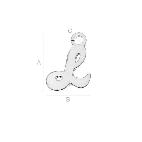 Litera L argint 925