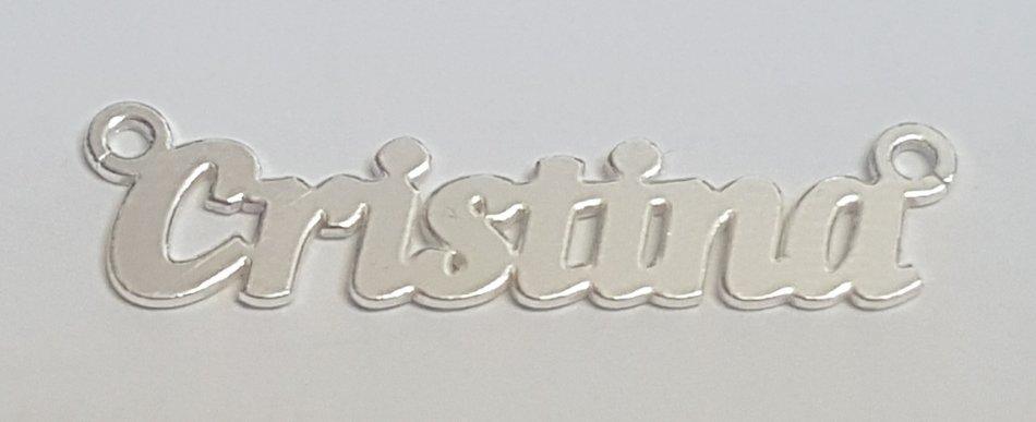 Placuta nume Cristina argint 925