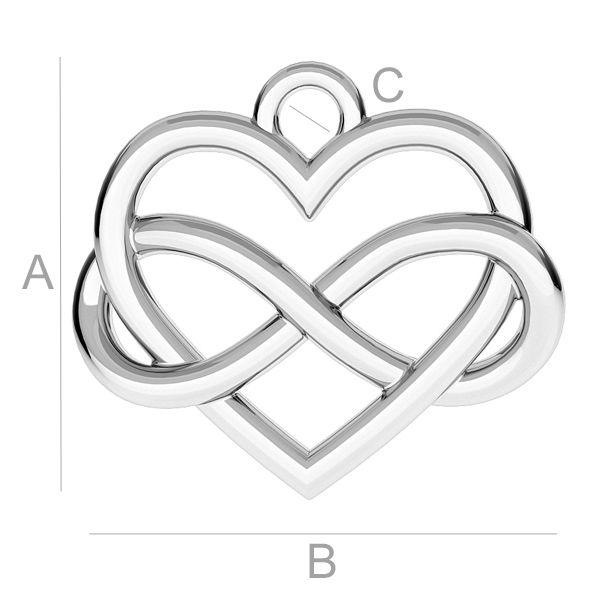 Pandant inima infinit, argint 925