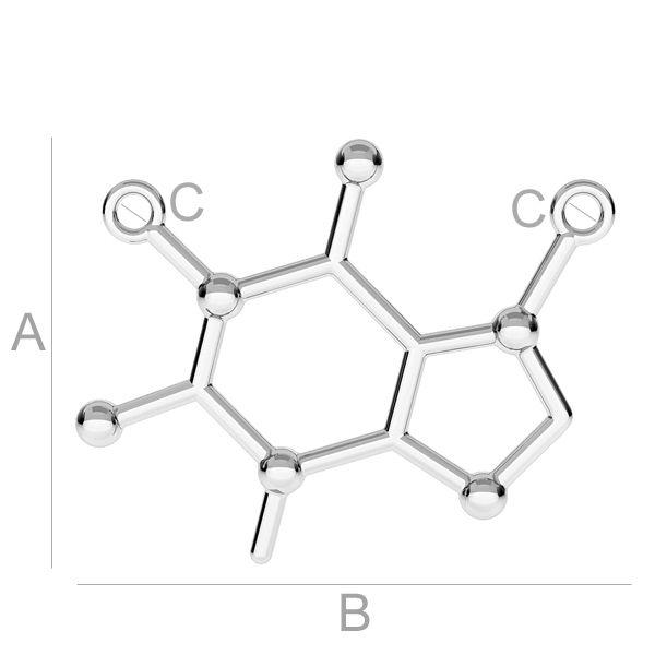 pandant molecula argint 925