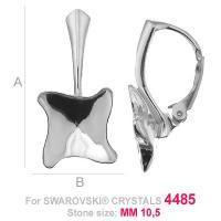 tortita, argint 925 ptr swarowski 4485 10,5 mm