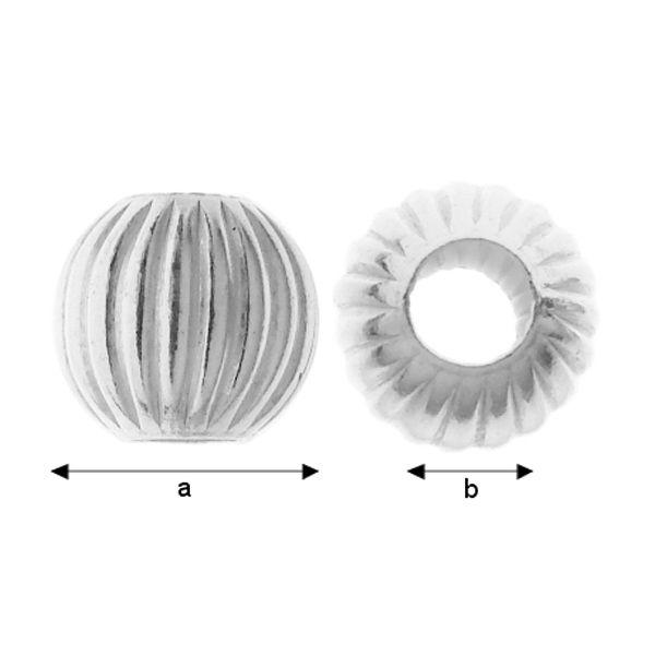 Bila ,argint 925 a5,00 mm b2,20 mm