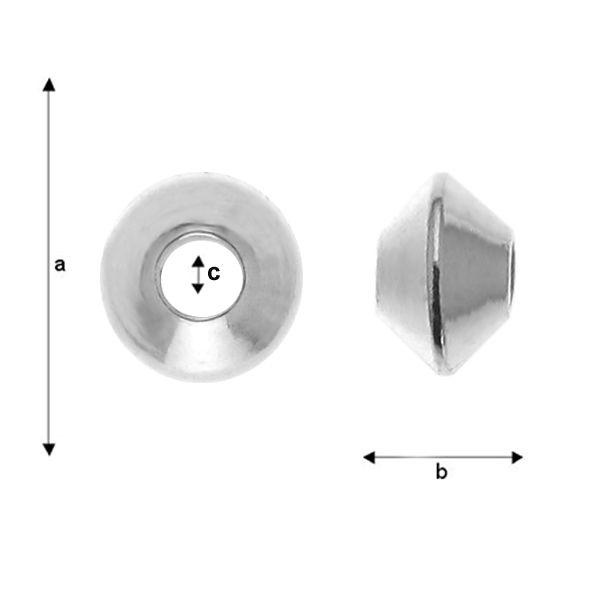 rondele ,argint 925 a3,30 mm b2,10 mm c1,20 mm