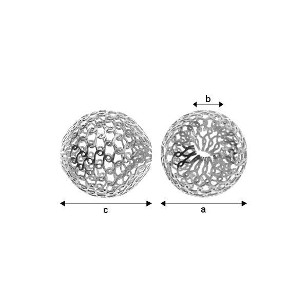 accesoriu, argint 925 a4,00 mm b1,80 mm c4,00 mm