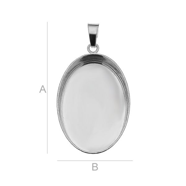 accesoriu magic gloss, argint 925  A25,00 mm B18,00 mm ptr magic gloss