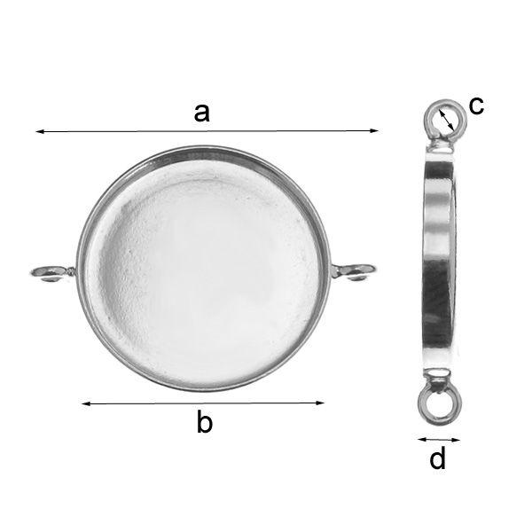 link, argint 925 A26,50 mm B18,00 mm C1,80 mm D3,00 mm,