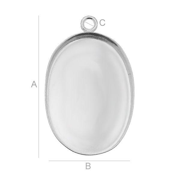 accesoriu, argint 925 A26,50 mm B18,00 mm C1,80 mm D3,00 mm,