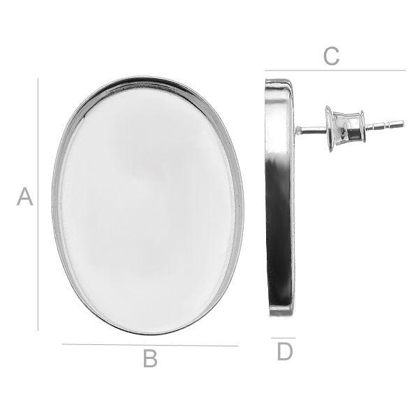 tortita, argint 925,  A25,00 mm B18,00 mm C14,00 mm D3,00 mm,