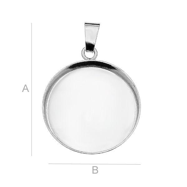 acesoriu pandant, argint 925  A31,00 mm B21,00 mm,