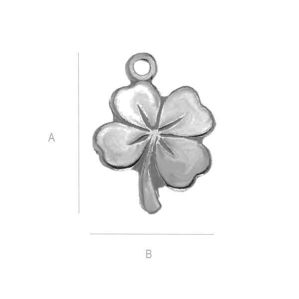 charm argint 925,  A13,00 mm B10,00 mm,