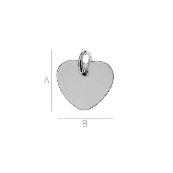 inima, argint925, A10,00 mm B11,00 mm