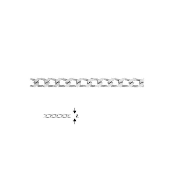 lant argint 925 a2,25 mm, la rola / 0,5 metri
