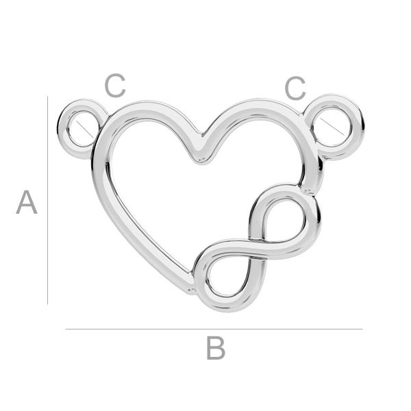 link inima ,infinit argint 925