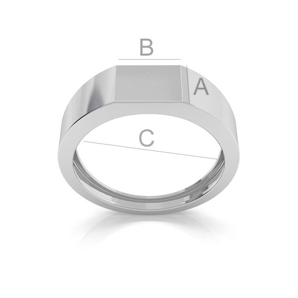 baza inel ,argint 925 A7,50 mm B10,00 mm C21,50 mm