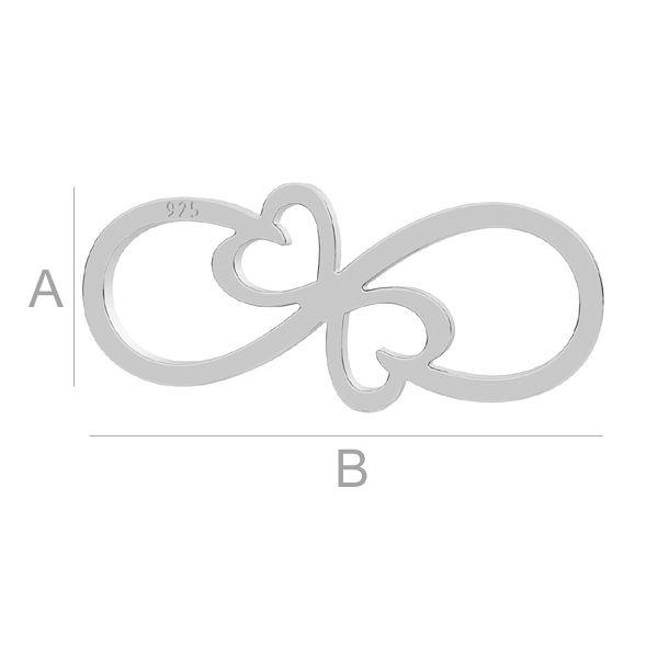 link infinit, argint 925, A7,40 mm B17,40 mm