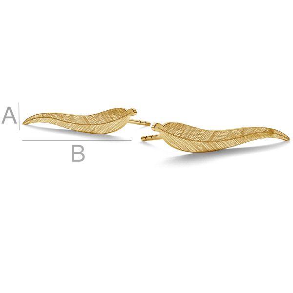 tortite frunza aur 14k / pereche placat cu aur de 24 k