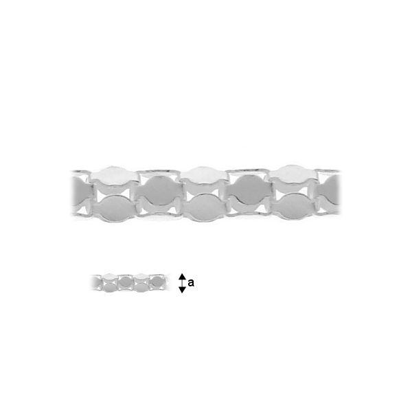 lant, argint 45 cm , 1,4 mm