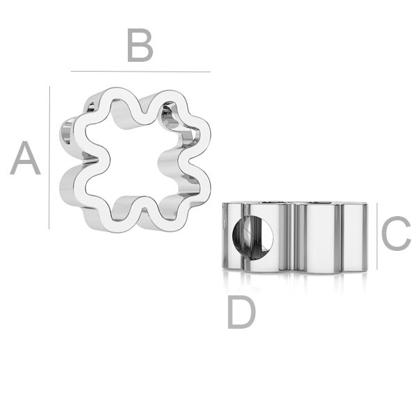 pandantiv trifoi, ag925 10,5 mm