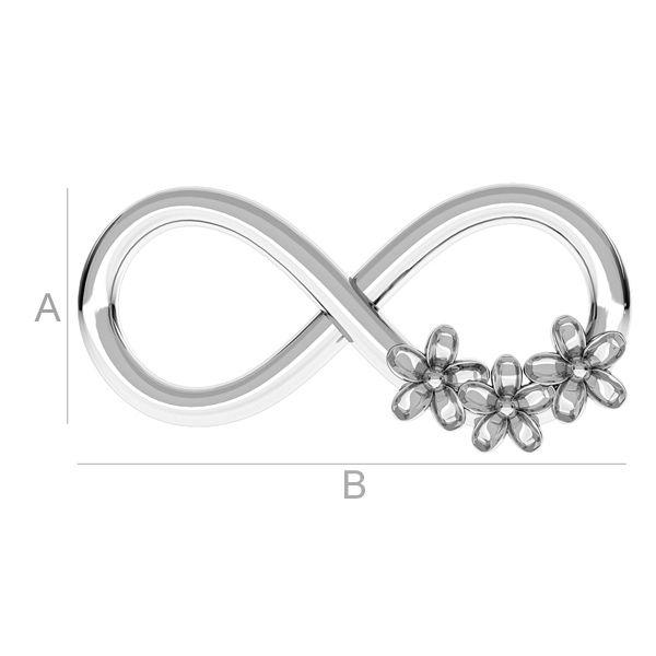 infinit cu floricele - argint 925